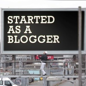 started as a blogger