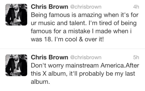 ChrisBrownretirementtweets